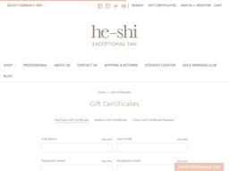 He-Shi gift card purchase