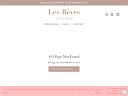 Les Reves Lingerie gift card purchase