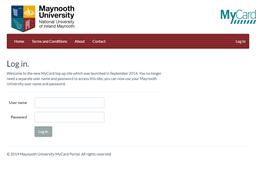 Maynooth University gift card balance check