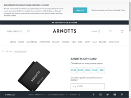 Arnotts gift card purchase