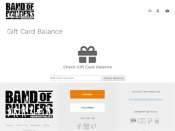 Band of Builders gift card purchase