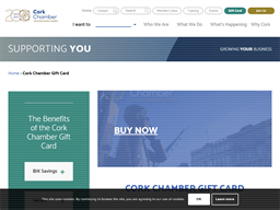 Cork Chamber gift card purchase
