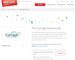 The Curragh Racecourse gift card purchase