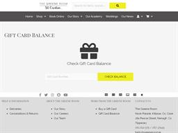 The Greene Room gift card balance check