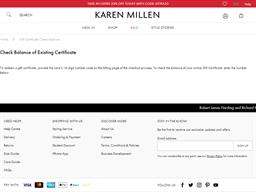 Karen Millen gift card balance check
