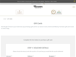 Keanes Jewellers gift card purchase