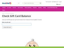 Mum N Me gift card balance check