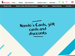 Nando's gift card purchase