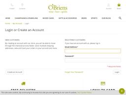 O'Briens Wine gift card balance check