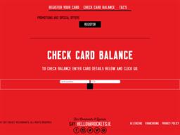 Rocket's gift card balance check