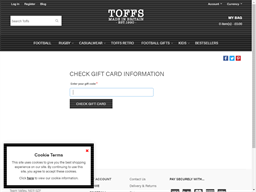 Toffs gift card balance check