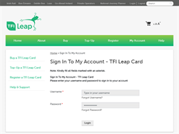 Transport For Ireland gift card balance check