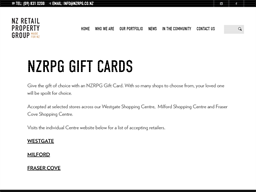 NZ Retail Property Group NZRPG gift card purchase