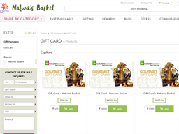 Natures Basket gift card purchase