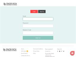 Snob Box gift card balance check