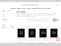 Stylerunner gift card purchase