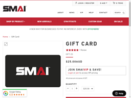 SMAI gift card purchase