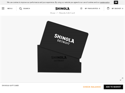Shinola Detroit gift card balance check