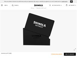 Shinola Detroit gift card purchase