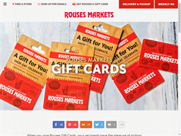 Rouses Supermarkets gift card purchase