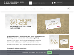 Moonee Ponds Central gift card purchase