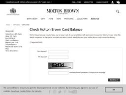 Molton Brown gift card balance check