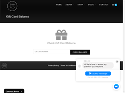 Ebb and Flo Living gift card balance check