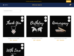 Dracakis Jewellers gift card purchase