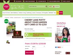 Cherry Lane gift card purchase