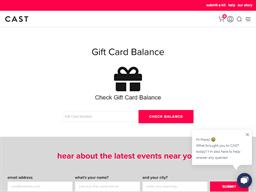 Cast gift card balance check