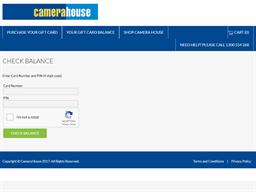 Camera House gift card balance check