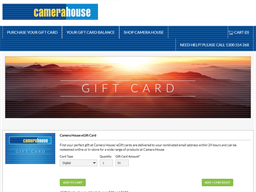 Camera House gift card purchase