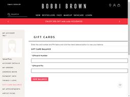 Bobbi Brown gift card balance check