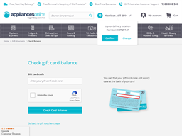 Appliances Online gift card balance check