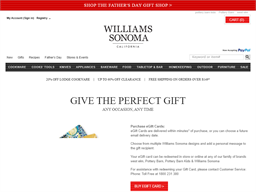 Williams Sonoma gift card purchase