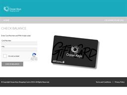 Ocean Keys gift card balance check