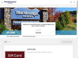 Blue Mountain Resort gift card balance check
