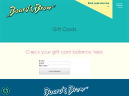 Board & Brew gift card balance check