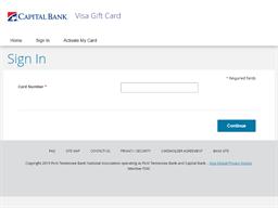 Capital Bank Visa Gift Card gift card balance check