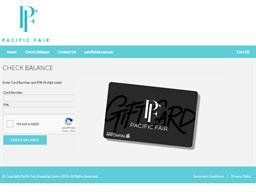 Pacific Fair gift card balance check