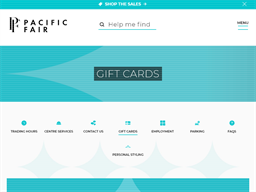 Pacific Fair gift card purchase