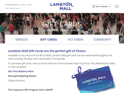 Lambton Mall gift card purchase