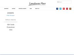 Lansdowne Place shopping