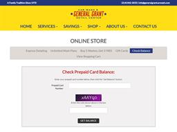 General GrantCar Wash gift card balance check