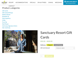 Scottsdale Luxury Resort gift card purchase