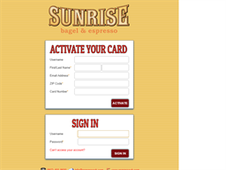 Sunrise Bagel & Espresso gift card balance check