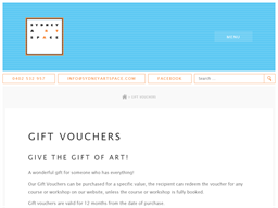 Sydney Art Space gift card purchase