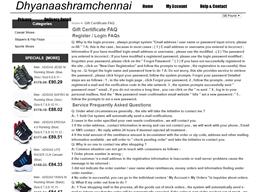 Dhyanaashramchennai gift card balance check
