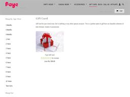Faye gift card purchase
