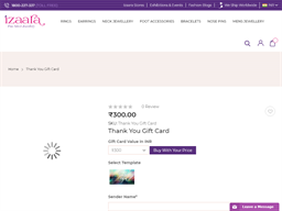 Izaara Thank You Gift Card gift card purchase